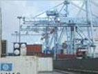 Les portiques du port de Jarry