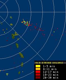 Impact de foudre de l'onde tropical en approche (14-08-2008 à 14h20)