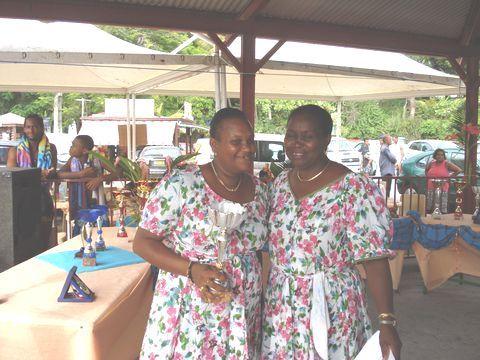 Récompense de Martine LAMI. Photo Pigeon Antilles
