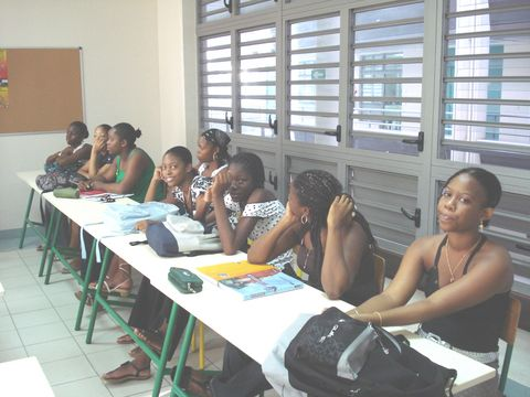 Retour en classe, dialogue. Photo Atout Guadeloupe