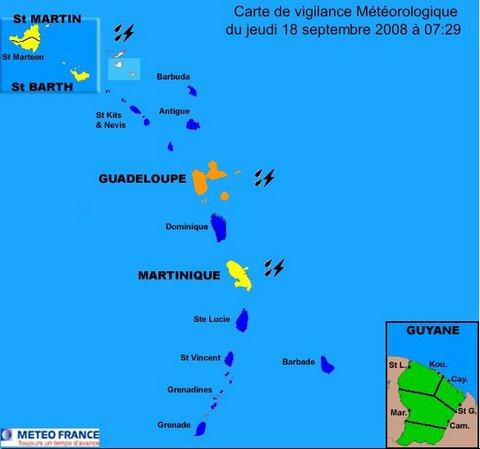 La Guadeloupe en alerte météo ORANGE