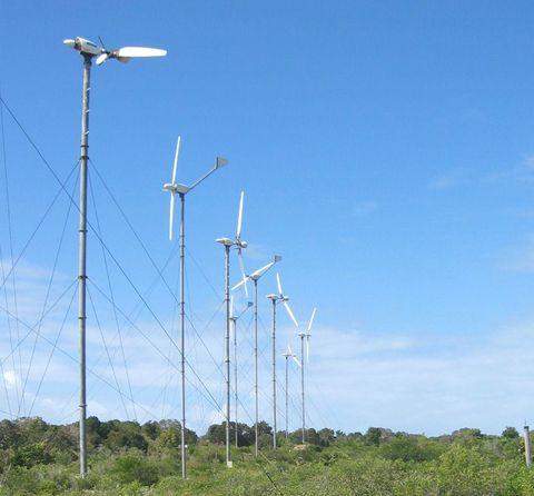 Les éoliennes de la Désirade