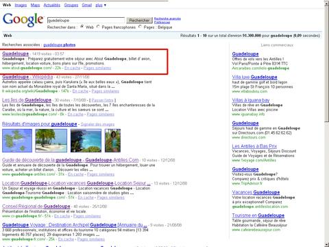 Atout Guadeloupe sur Google.be