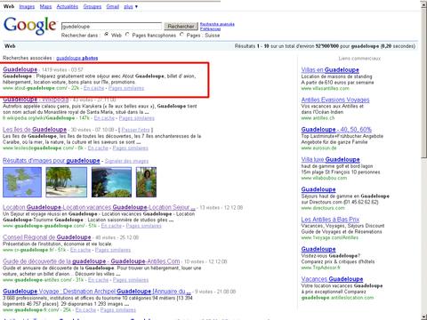 Atout Guadeloupe sur Google.ch