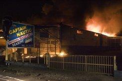 Lundi soir, un magasin nautique est enflammé