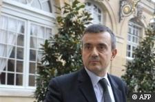 Photographe : Olivier Laban-Mattei AFP :: Le secrétaire d'Etat à l'Outre-mer Yves Jégo, le 20 février 2009 à Paris Olivier Laban-Mattei , AFP