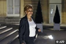 Photographe : Gérard Cerles AFP :: La sénatrice UMP de Guadeloupe Lucette Michaux-Chevry