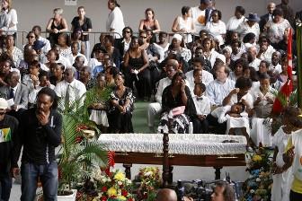 Funérailles de Jacques Binon le 22 février 2009 à Petit Canal près de Pointe-à-Pitre