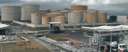 La SARA, dépôts de carburants, photo UGTG