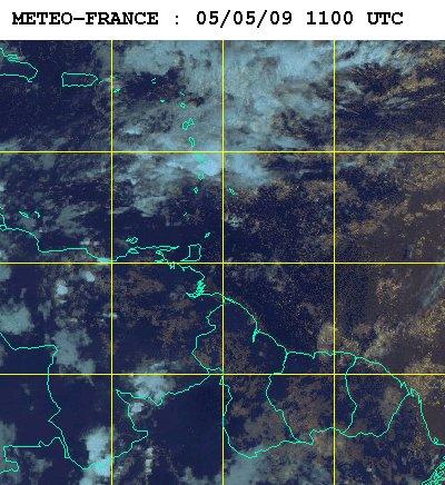 Carte météo satellite du 5 mai 2009