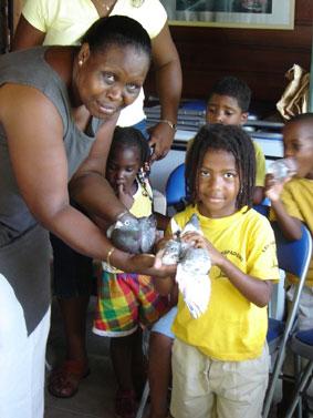 Les enfants et la colombophilie