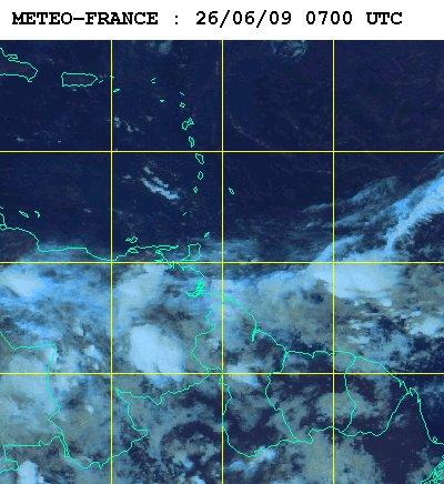 Météo satellite du vendredi 26 juin 2009