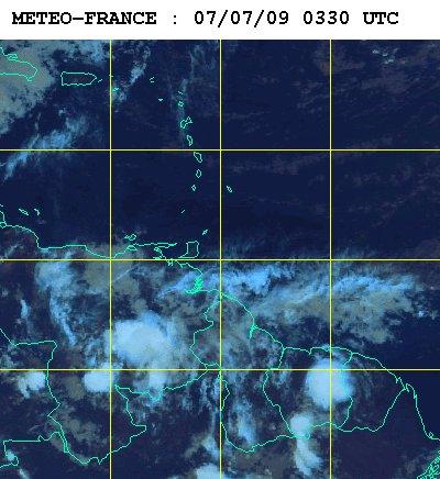 Météo satellite du mardi 7 juillet 2009