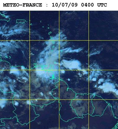 Météo satellite du vendredi 10 juillet 2009