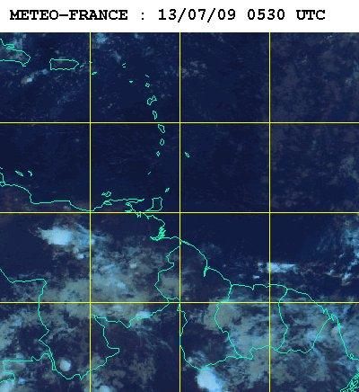 Météo satellite du lundi 13 juillet 2009