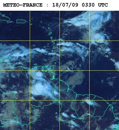 Météo satellite du samedi 18 juillet 2009