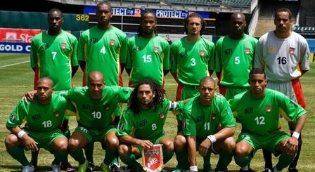 Equipe de Guadeloupe contre le Costa Rica