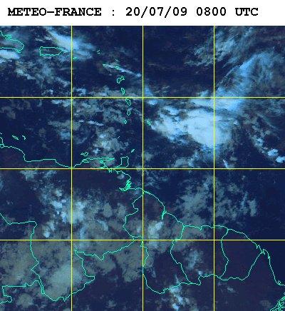 Météo satellite du lundi 20 juillet 2009