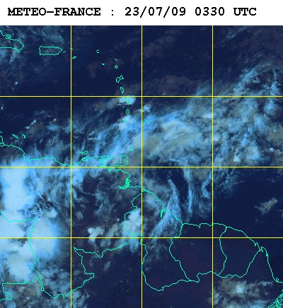 Météo satellite du jeudi 23 juillet 2009