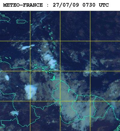 Météo satellite du lundi 27 juillet 2009