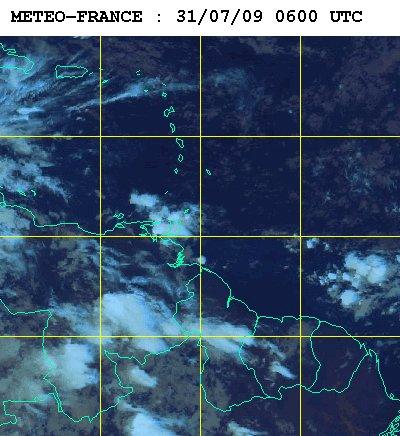 Météo satellite du vendredi 31 juillet 2009