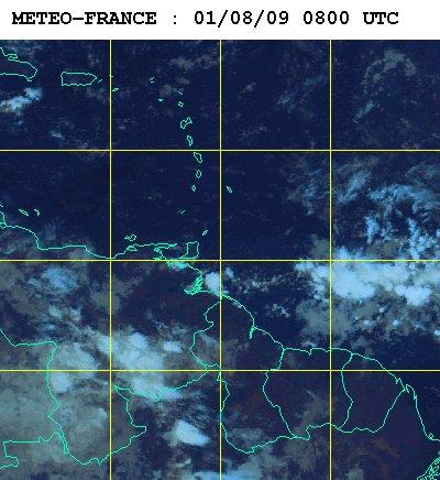 Météo satellite du samedi 1er aout 2009