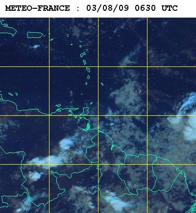 Météo satellite du lundi 3 aout 2009