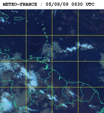 Météo satellite de Guadeloupe du mercerdi 5 aout 2009