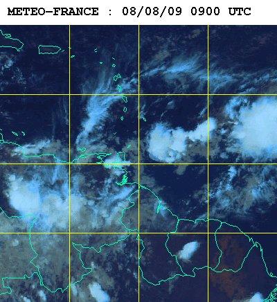 Météo satellite du samedi 8 aout 2009