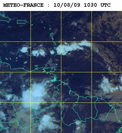 Météo satellite du lundi 10 aout 2009