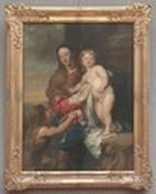 Peinture de Antoine van Dyck, la vierge Marie et l'enfant