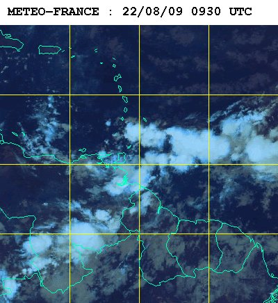 Météo satellite du samedi 22 aout
