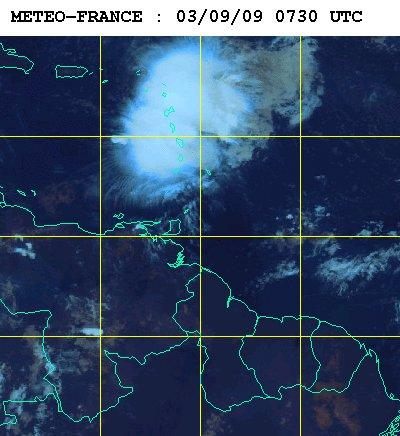 Météo France, image satellite 3 heures du matin le 3 sept. 2009