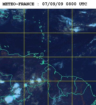 Météo satellite du lundi 7 septembre 2009