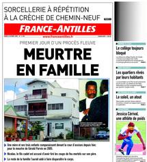 meurtre guadeloupe : la une de France Antilles