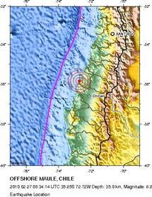 Seisme de 8.8 et alerte au tsunami au Chili (vidéo)