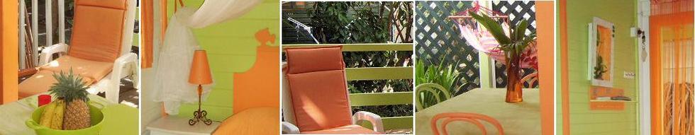Héliconia, bungalow pour 2/4 personnes, cliquez ici pour d'autres offres sur de plus grands bungalows !