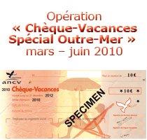 Chèque vacances Guadeloupe spécial Outre Mer
