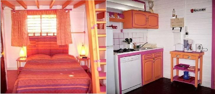 En savoir plus sur le Balisier, location de bungalow en Guadeloupe proposé par le Verger de Sainte Anne