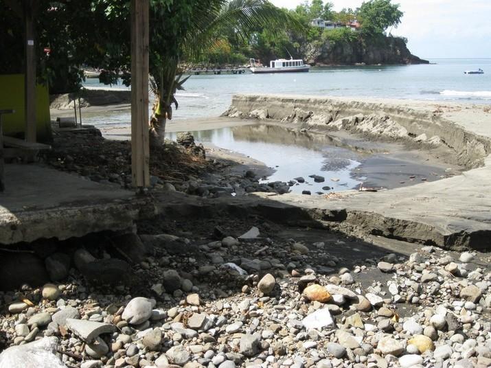 Les dernières pluies ont augmenté les dégradations de la plage