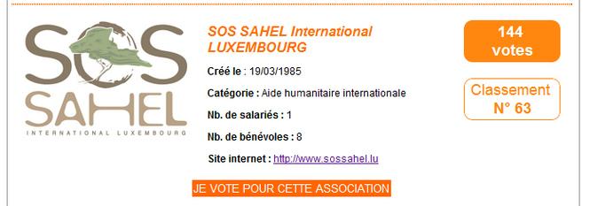 1000 euros pour cette association humanitaire si elle est dans les 40 premiers