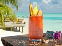 Restaurants de Saint François, cocktail vue sur lagon