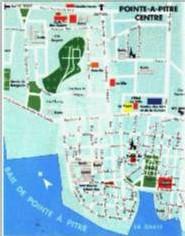 Ville de Pointe à Pitre-carte