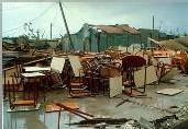 Les dégats du cyclone Hugo de 1989 en Guadeloupe