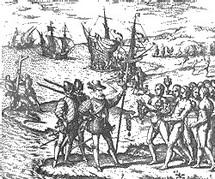 Arrivée de Christophe Colomb aux Antilles