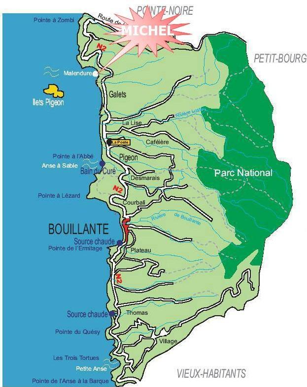 carte localisation michel