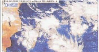 Carte satellite du phénomène