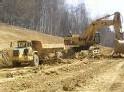 Terrassement pour la construction de l'école