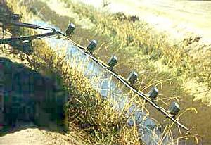 Irrigation d'un champ