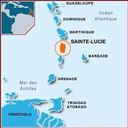 Ste Lucie et les isles Caraîbes